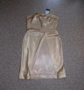 Платье атласное новое