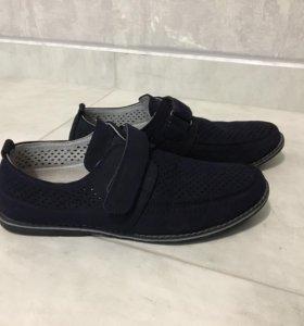 Ботинки Chessford синие р 40