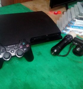 Ps3 + PsMove +PsEyas+1 gamepad + 8 игр*