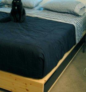 Кровать двуспальная массив икеа