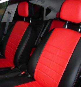 Авточехлы из экокожи для Volkswagen polo