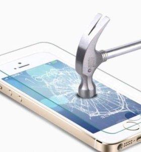 Противоударное стекло на iPhone 5 5s 5c SE