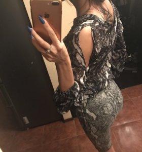 Стильный костюм юбка блузка
