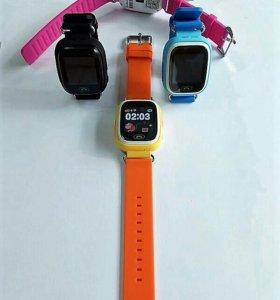 Умные часы Q90 для мальчиков и девочек. Новые.