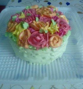 Домашний свежий торт