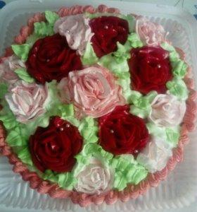 Свежий домашний творожный торт