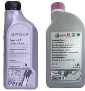 Моторное масло и охлаждающая жидкость