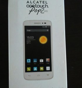Alcatel One Touch POP 2 5042D White + чехол