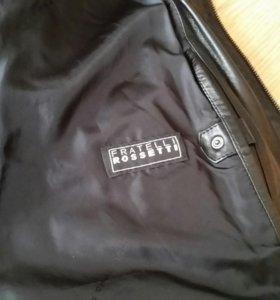 Кожанная итальянская брендовая куртка
