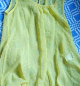 Желтая новая блузка
