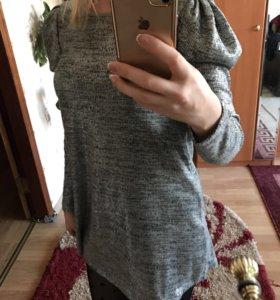 Платье серое паетки