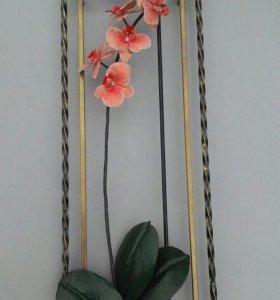Орхидея кованая ! Панно на стену
