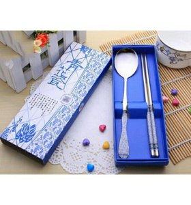Набор палочки для еды и ложка