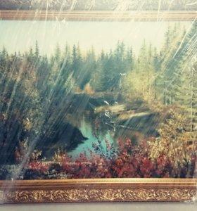 Картина масло, холст в багете