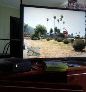 Xbox360 E 500G +Телевизор LG 32 LH513U-ZE