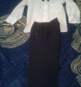 Рубашка+брюки +бабочка