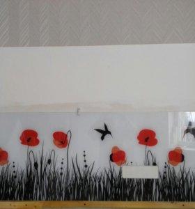 Панель стеновая из стекла для кухни 225*56 см