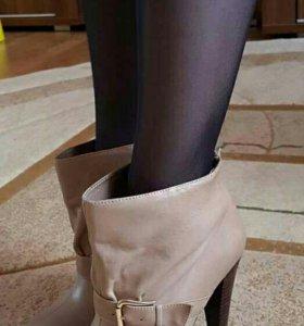 Ботинки демисезонные, натуральная кожа