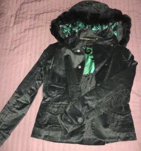 Куртка жакет бархатная стильная