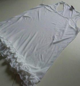 платье 46размер 100% вискоза. Материал тянется.