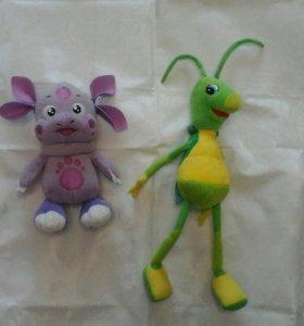Мягкие игрушки : Кузя и Лунтик
