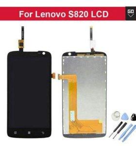 ЖК-дисплей с сенсорным экраном для Lenovo S820