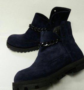 Продам новые ботинки(сапоги) из натуральной замши