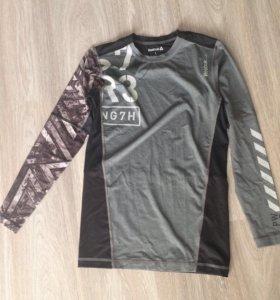 Reebok спортивная футболка с длинными рукавами