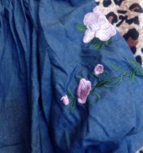 Джинсовое платье 44-46