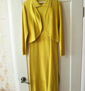 Платье трикотаж с балеро