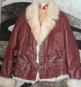 Дубленка(куртка) с натуральном мехом