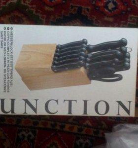 Набор 15 пр: ножи, мусат, ножницы вилка, подставка
