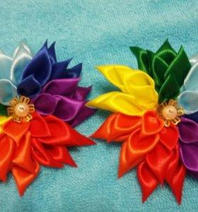 Цветочки на резиночках