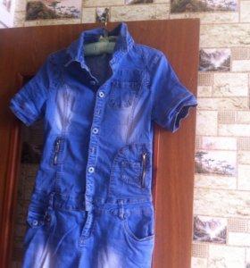Джинсовое платье размер 42