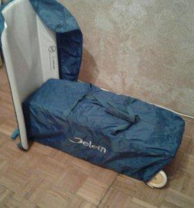 Манеж- кровать Jetem C1 Happy Indians Blue