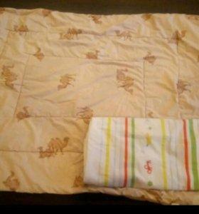 Одеяло Верблюжья шерсть детское с пододеяльником