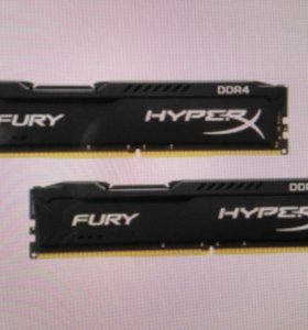 DDR4 Kingston HyperX Fury 2x8gb 2133