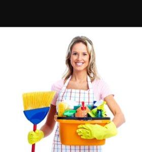 Уборка дома , мытьё окон , глажка