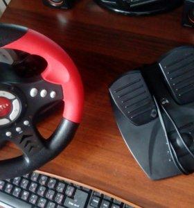 Продам игровой руль и педали Oklick W-4