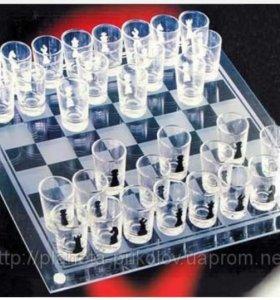 Шахматы стеклянные , рюмки