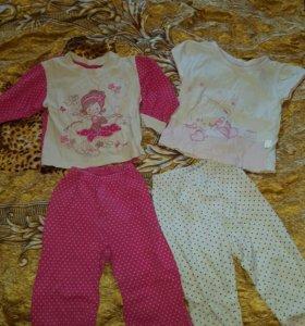 Пижамы на 1-2года