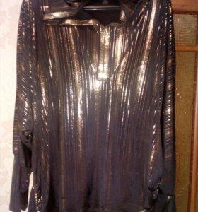 Блуза очень красивая черная с золотом с капюшеном