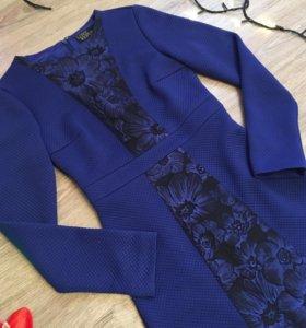Новое стильное синее платье Love republic