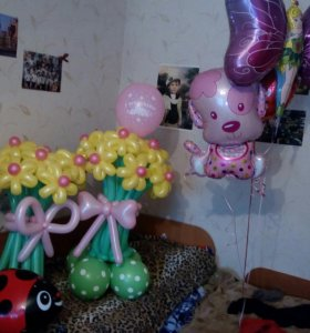 Букеты и воздушные шары