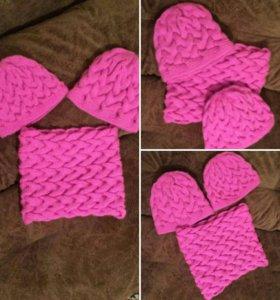 Комплект: шарф-снуд и шапки