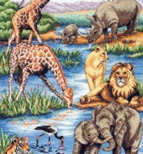 Набор для вышивания, Anchor, African wildlife