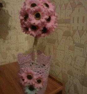 Цветок, топиарий на 8 марта
