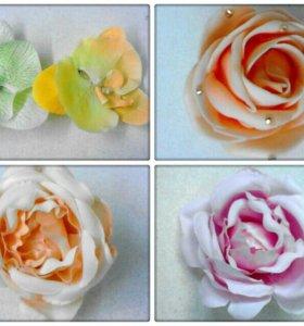 Заколочки для волос с цветами