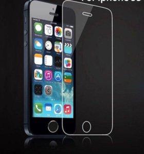 Защитные стёкла на айфон 5,5s и 4,4s