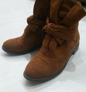 Классные замшевые ботиночки